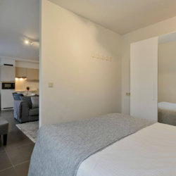 master bedroom in bbf serviced apartment west brussels
