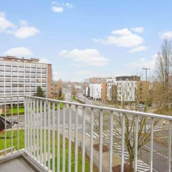 balcony view from one bedroom furnished apartment in west brussels