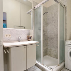 serviced apartment bathroom with shower and fortnightly cleaning included