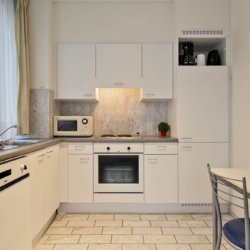 fully equipped kitchen with fortnightly cleaning and dishwasher