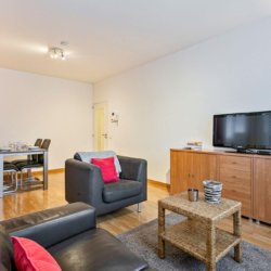 living room with sofas and cable television in bbf apartment