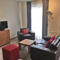Living room - one bedroom app. Dumonceau