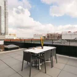 outside rooftop terrace
